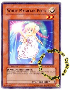 YuGiOh Spellcaster's Judgment Single Card SD6-EN013 White Magician Pikeru
