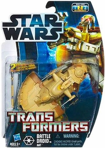Star Wars 2012 Transformers Battle Droid to AAT