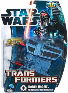 Star Wars 2012 Transformers Darth Vader to Tie Advanced X1 Starfighter