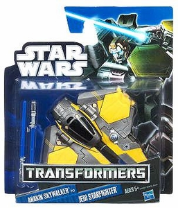 Star Wars 2012 Class I Transformers Crossovers Anakin Skywalker to Jedi Starfighter