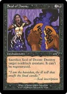 Magic the Gathering Nemesis Single Card Common #70 Seal of Doom