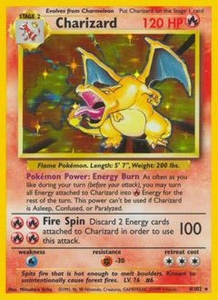 Pokemon Card Game Base Single Card Rare Holo #4 Charizard