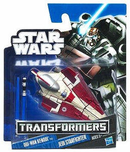 Star Wars 2012 Class I Transformers Crossovers Obi-Wan Kenobi to Jedi Starfighter