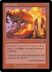 Magic the Gathering Nemesis Single Card Common #98 Seal of Fire