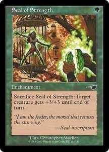 Magic the Gathering Nemesis Single Card Common #115 Seal of Strength
