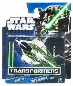 Star Wars 2012 Class I Transformers Crossovers Saesee Tiin to Jedi Starfighter