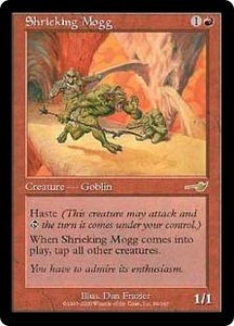 Magic the Gathering Nemesis Single Card Rare #99 Shrieking Mogg