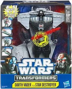 Star Wars 2012 Transformers Deluxe Figure Darth Vader to Star Destroyer