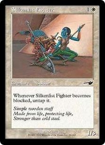 Magic the Gathering Nemesis Single Card Common #19 Silkenfist Fighter