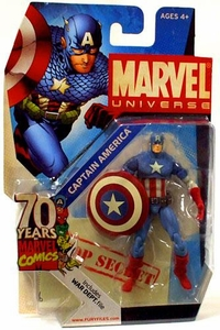Marvel Universe 3 3/4 Inch SDCC Exclusive 70 Years Invaders Action Figure #SD1 Captain America