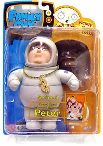 Family Guy Mezco Series 8 Action Figure Secret Agent Astronaut Millionaire Peter Damaged Package, Mint Contents!