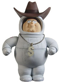 Family Guy Mezco Series 8 LOOSE Action Figure Secret Agent Astronaut Millionaire Peter