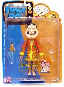 Family Guy Mezco Series 8 Action Figure Quagmire in Bathrobe