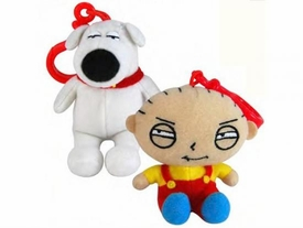 Family Guy Commonwealth Mini Plush Backpack Clip Set of 2 [Stewie & Brian]
