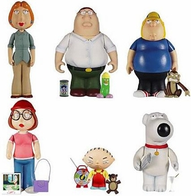 Family Guy Mini Action Figure Box Set [Lois, Peter, Chris, Meg, Stewie, Brian & Evil Monkey]