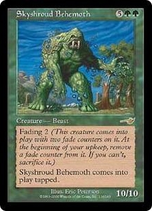 Magic the Gathering Nemesis Single Card Rare #116 Skyshroud Behemoth