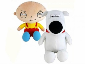 Family Guy Commonwealth 8 Inch Plush Figure Set of 2 [Stewie & Brian]