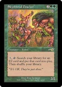 Magic the Gathering Nemesis Single Card Rare #119 Skyshroud Poacher Played Condition Not Mint