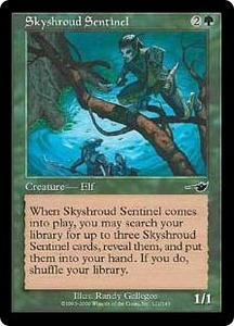 Magic the Gathering Nemesis Single Card Common #121 Skyshroud Sentinel