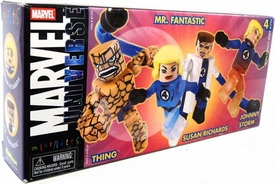 Marvel MiniMates Comic-Con Exclusive 4-Pack Fantastic Four Set [Thing, Mr. Fantastic, Susan Richards & Johnny Storm]