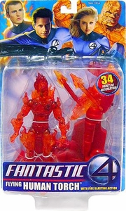 Fantastic Four Movie Action Figure Flying Human Torch
