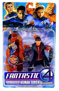 Fantastic Four Movie Action Figure Snowboarding Human Torch