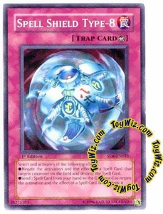 YuGiOh Spellcaster's Judgment Single Card SD6-EN033 Spell Shield Type 8