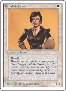 Magic the Gathering Unlimited Edition Single Card Common Benalish Hero