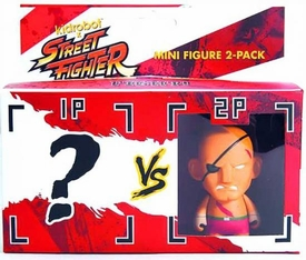 KidRobot Street Fighter Collectible Vinyl 3 Inch Mini Figure 2-Pack Sagat [Includes 1 Mystery Figure]