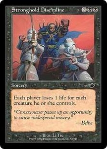 Magic the Gathering Nemesis Single Card Common #73 Stronghold Discipline