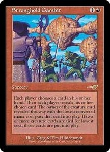 Magic the Gathering Nemesis Single Card Rare #100 Stronghold Gambit Played Condition Not Mint