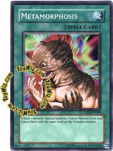 YuGiOh GX Champion Game One Single Card Super Rare CP01-EN003 Metamorphosis