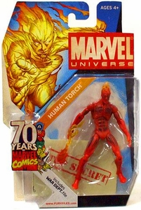 Marvel Universe 3 3/4 Inch SDCC Exclusive 70 Years Invaders Action Figure #SD3 Human Torch