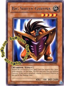 YuGiOh GX Champion Game One Single Card Rare CP01-EN006 Big Shield Gardna