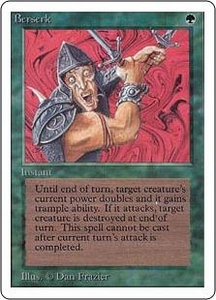 Magic the Gathering Unlimited Edition Single Card Uncommon Berserk