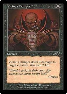 Magic the Gathering Nemesis Single Card Common #74 Vicious Hunger