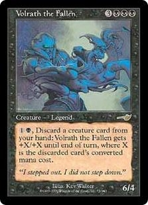 Magic the Gathering Nemesis Single Card Rare #75 Volrath the Fallen