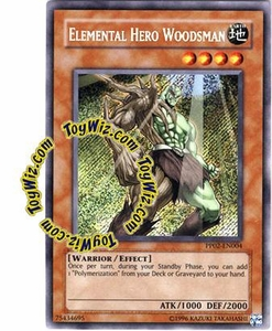 YuGiOh GX Premium Pack 2 Single Card Secret Rare PP02-EN004 Elemental Hero Woodsman