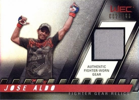 UFC Topps Ultimate Fighting Championship 2010 Knockout Single Card Relic FG-JA Jose Aldo 62/188