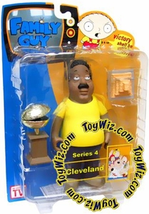 Family Guy Mezco Series 4 Action Figure Cleveland