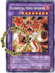 YuGiOh GX Premium Pack 2 Single Card Secret Rare PP02-EN010 Elemental Hero Inferno