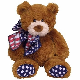 Ty Classic Plush Flags the Bear (w/ red, white, and blue scarf)