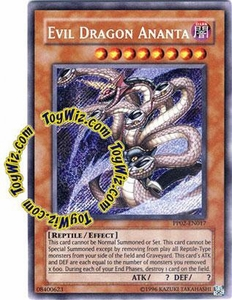 YuGiOh GX Premium Pack 2 Single Card Secret Rare PP02-EN017 Evil Dragon Ananta