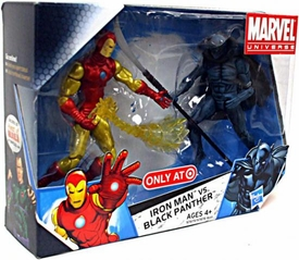 Marvel Universe 3 3/4 Inch Exclusive Action Figure 2-Pack Iron Man Vs. Black Panther