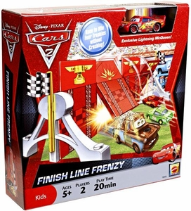 Disney / Pixar CARS 2 Movie Game Finish Line Frenzy [Includes Exclusive 1:55 Die Cast Lightning McQueen] BLOWOUT SALE!