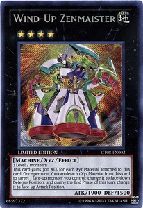 YuGiOh ZEXAL 2011 Holiday Tin Promo Single Card Secret Rare CT08-EN002 Wind-Up Zenmaister