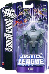 DC Super Heroes Justice League Unlimited Action Figure Steel [Purple Card]