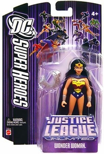 DC Super Heroes Justice League Unlimited Action Figure Wonder Woman with Cape & Armor [Purple Card]