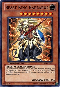 YuGiOh ZEXAL 2011 Holiday Tin Promo Single Card Super Rare CT08-EN005 Beast King Barbaros