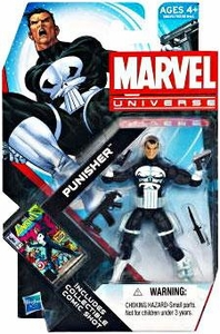 Marvel Universe 3 3/4 Inch Series 19 Action Figure #13 Punisher [White Gloves & 4 Weapons]